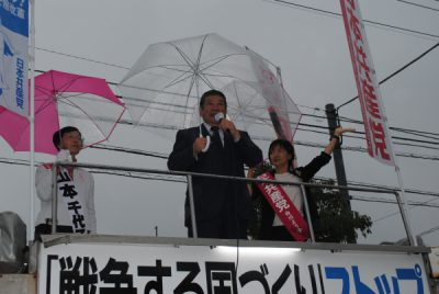 2017.10.6.白川候補が徳島、阿南2市で訴え (19)