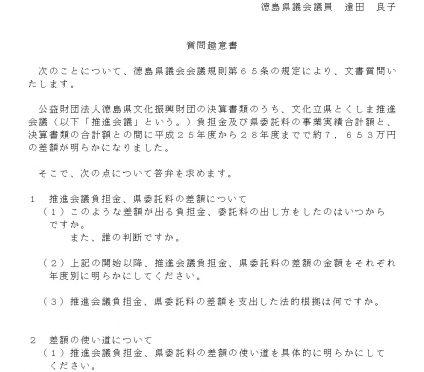 20180306質問趣意書 達田
