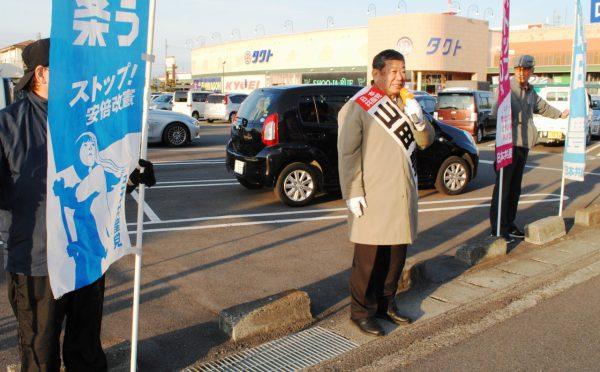2019.3.5.上村、山田両県議が街宣 (7)