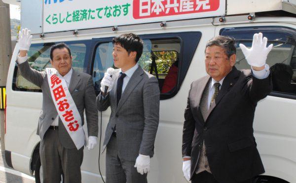 2019.4.15.松本けんじ参院候補が市議選応援 (9)